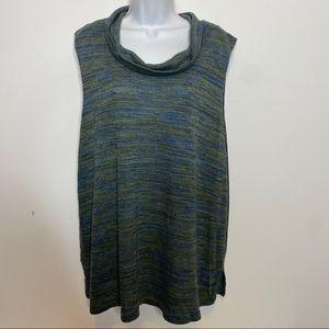 🎉3/$35 Avenue Blue/Green Sleeveless Top